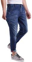 SK Studio Men's Skinny Casual Big and Tall Denim Straight Leg Stretch Jeans