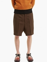 Ami Brown Wool Bermuda Shorts