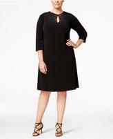 Calvin Klein Plus Size Embellished Keyhole Dress