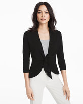 White House Black Market Three-Quarter Sleeve Peplum Coverup Sweater