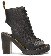 Dr. Martens Carmelita Open Heel Lace Up Boot in Black