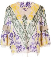 Sacai textured jacquard top