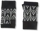 Sofia Cashmere Women's Fair Isle Fingerless Gloves, Black