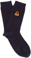 Folk Rib Socks Navy
