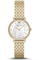Emporio Armani Mother-of-Pearl Analog Stainless Steel Bracelet Watch