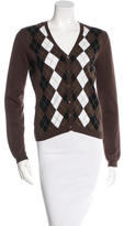 Burberry Argyle Long Sleeve Cardigan