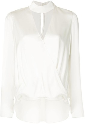 A.L.C. Raquel mock-neck cutout blouse