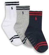 Ralph Lauren Boys' Striped Socks, 3 Pack - Sizes 2-4