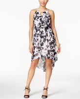 Thalia Sodi Printed High-Low Blouson Dress, Only at Macy's