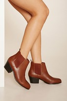 Forever 21 Faux Leather Chelsea Booties