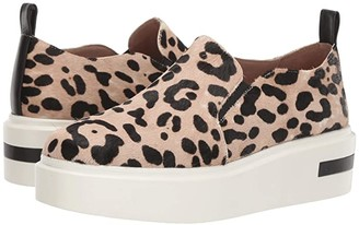 Linea Paolo Kai 2 (White/Black Leopard Print Haircalf) Women's Shoes