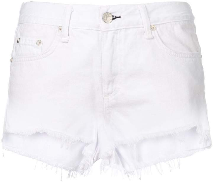 Rag & Bone Jean frayed hem denim shorts