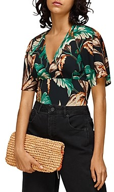 Whistles Tropical Floral Fitted Top
