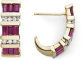JCPenney FINE JEWELRY 1/10 CT. T.W. Diamond & Glass-Filled Ruby Earrings