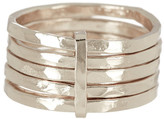 Argentovivo Sterling Silver Hammered 5 Band Ring - Size 6