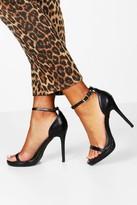 boohoo Elizabeth Single Platform Two Part Heels black