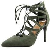 Rampage Sleepless Women Pointed Toe Synthetic Green Heels.