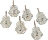 Rejuvenation Set of 6 Petite Glass Hexagonal Knobs