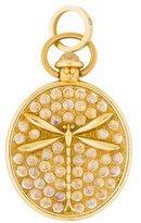 Temple St. Clair 18K Diamond & Moonstone Aeris Dragonfly Pendant