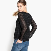 Best Mountain Mesh Style Openwork Blouse