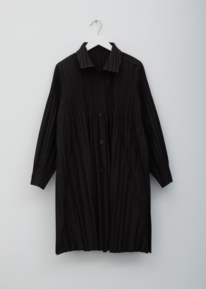 Pleats Please Issey Miyake Jaunty Pleated Coat