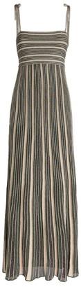 M Missoni Striped Lurex Maxi Dress
