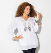 Avenue Fern Embroidered Tunic