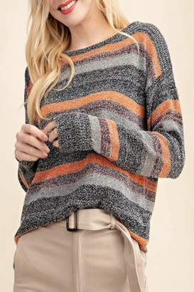 Kori America Multi-Color Sweater Top