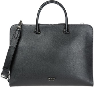 Prada Logo Laptop Bag