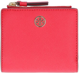 Tory Burch Robinson Small Wallet In Saffiano Leather