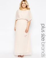 Club L Plus Maxi Dress With Fluted Sleeves