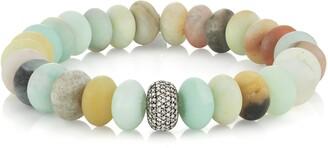 Sheryl Lowe Amazonite Bracelet with Pave Diamonds
