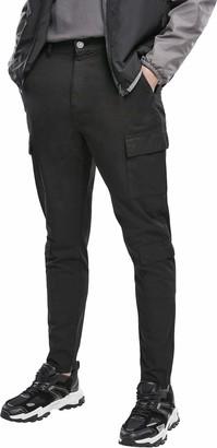 Urban Classics Men's Tapered Double Cargo Pants Slacks