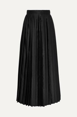 MM6 MAISON MARGIELA Pleated Satin Maxi Skirt - Black