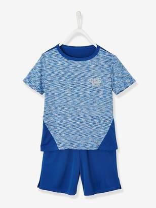 Vertbaudet Sports Combo for Boys: T-Shirt & Bermuda Shorts in Techno Fabric