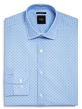 Work Rest Karma Textured Ground Dot Slim Fit Dress Shirt