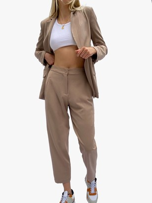 French Connection Etta Tailored Suit Trousers, Camel