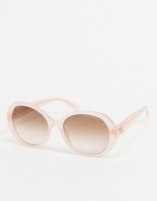 Marc Jacobs oval sunglasses in pastel pink