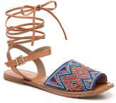 Rebels Women's Stina Flat Sandal -Tan/Gold Metallic