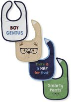 """Luvable Friends Boy Genius"""" 4-Pack Baby Bibs"""