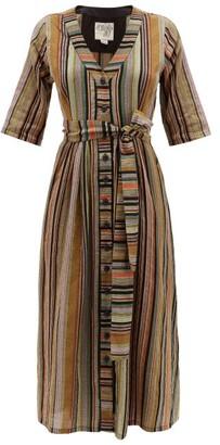 Ace&Jig Leelee Belted Striped-cotton Midi Dress - Womens - Black Multi