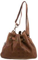 Christian Dior Cannage Drawstring Shoulder Bag