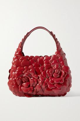 Valentino Garavani 03 Rose Edition Atelier Small Leather Tote - Red