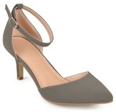 Journee Collection Women's Ike Faux Suede Ankle Strap Pumps