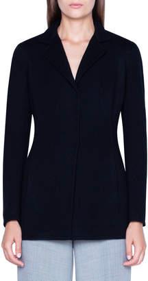 Akris Cashmere Knit Long Blazer Jacket