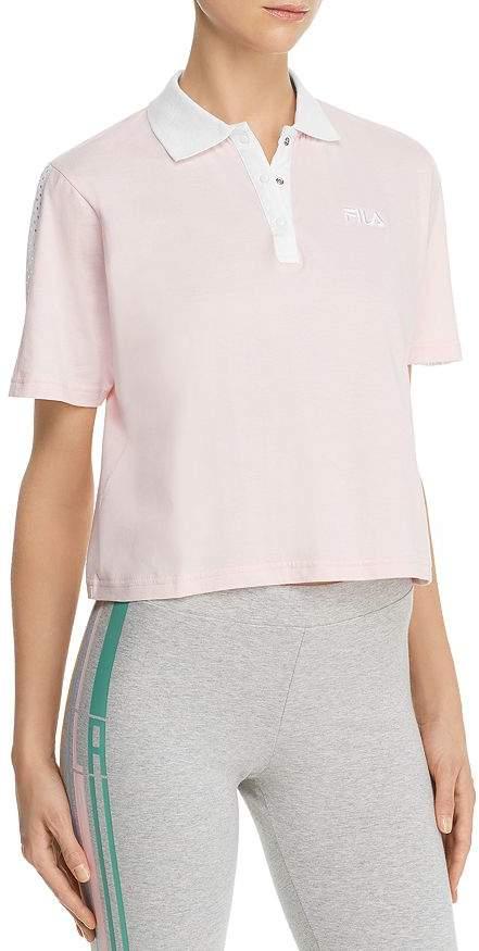 Fila Adiella Mesh-Inset Polo Shirt