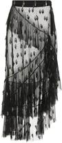 Rodarte Two Tiered Tulle Ruffle Skirt