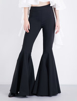 Ellery Jacuzzi flared stretch-crepe trousers