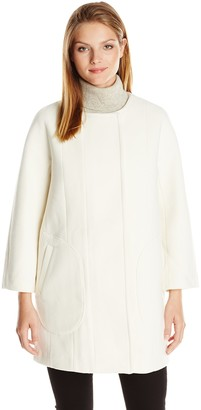 French Connection Women's Harbour Coating Long Sleeve Coat