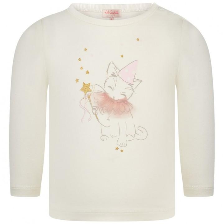 Baby Girls Ivory Cat Print Top